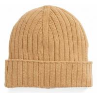 Quality Unisex Wool Winter Hat , Warm Custom Knitted Beanie Hats Plain Color Strings Buckle Closure for sale