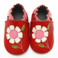 China Moustache leather baby moccasins soft sole baby shoes for girls boys on sale
