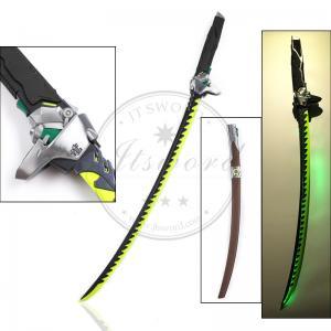 Quality 47.2 Video Game Replica Swords Overwatch Genji Katana Sword With Led Light for sale