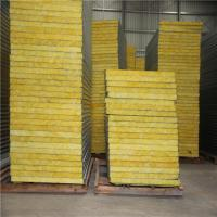 Quality prefabricated house use 50mm insulated aluminum glass wool sandwich roof panels for sale