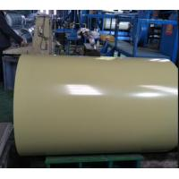 China 55% Alu 0.40X1220 Beige Prepainted Galvalume Steel Sheet In Coil For Structure Cladding on sale