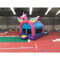 China Safety Unicorn Adult Size Bounce House Girl Modeling Ground Stakes Pack on sale