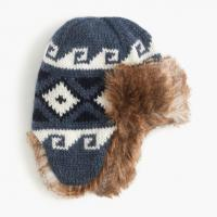 China Trapper Winter Knit Beanie Hats With Fur Lining Strong Material Customized Color on sale