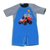 China Kid Jumpsuit Baby Wetsuit Bathing Suit 2mm Thermal Neoprene Swimwear with Car on sale