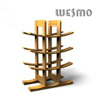 Quality WTB0306A Bamboo Wine Rack, Eco Friendly Personalized Wine Accessories for sale