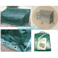 Quality Green Waterproof pe plastic outdoor garden furniture covers,lounge bench covers,funiture series,garden bench cover, bag for sale