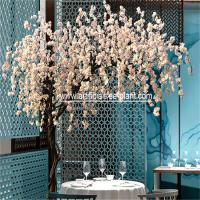 White Flower Artificial Weeping Cherry Blossom Tree Outdoor Party Decoration for sale