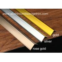 Quality Sleek Anodized Aluminium Corner Guard Wall Tile Corner Trim 90 Degree Angle for sale