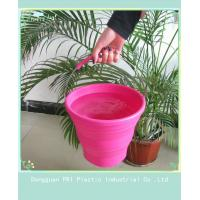 Buy Custom durable silicone folding bucket for picnic household product at wholesale prices