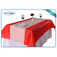 China Size 120CMX100CM Square Disposable Non Woven Tablecloth Eco-friendly and Recyclable on sale