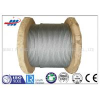 Quality Galv Elevator / Aircraft Wire Rope Zinc Coated With 1570-1960MPA Tensile Strength for sale