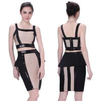 China Wholesale/retail creative designing two piece unique short high elastic tight party dresses on sale