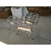 Brand New Clear 3-pc Acrylic Drum Set with Tube Lugs