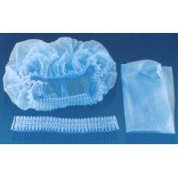 China 18 / 19 / 20 / 21 Disposable Non Woven Cap With Ties Back For Surgical Operating on sale