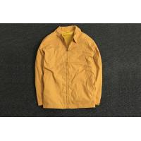 Quality Classic Durable Yellow Polyester Coat Jacket Oversize / Men's Casual Jackets for sale