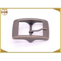 Plain Design Brass Plated Metal Belt Buckle , Central Bar Buckle with Pin