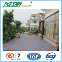 Quality Eco - Friendly Anti Slip Rubber Gym Mats / 50 * 50mm Coloured Rubber Matting for sale