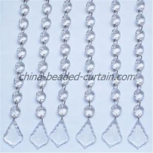 China Chandelier decoration wedding chains ,crystal acrylic curtain on sale