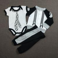 Quality Black 0 - 9M Cool Baby Boy Clothes Casual Style Knitted Type OEM Service for sale