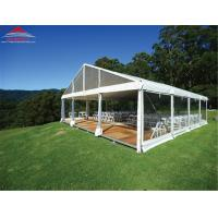Quality Fire Retardant 20 X 20M Wedding Party Tent With Glass Wall / Colourful Cover for sale
