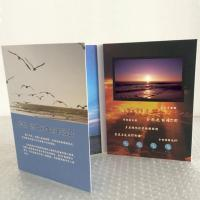 Quality 1024*600 HD IPS Video In Print Brochure , Custom Greeting Card With Video Screen for sale