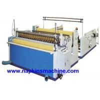 Buy cheap Nonwoven Paper Roll / Jumbo Roll Slitting Machine To Rewind And Slit Toilet Paper product