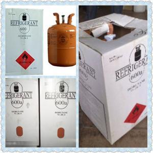 Hot sale gas refrigerante r600a with good price butane gas R600A refrigerant