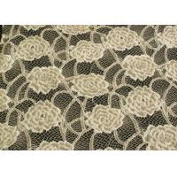 Quality Eco-Friendly Brushed Lace Fabric Yellow  for sale