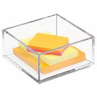 Quality Customized Clear Lucite 4x6 Acrylic Brochure Holders / Paper Sticky Note Pad Holder for sale