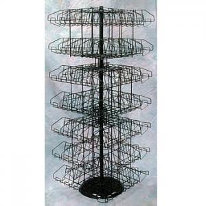 Hanging Clip Rack w/Basket for Cross Merchandising