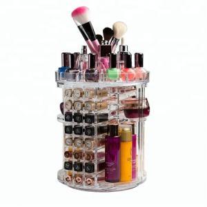 Quality Clear Fashion Acrylic Cosmetic Display Rotating Acrylic Lipstick Organizer for sale