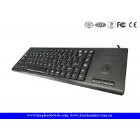 Quality Plastic Industrial Computer Keyboard With Function Keys And Integrated Trackball for sale