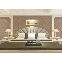 Buy cheap Wet Embossed Non Pasted Bedding Room European Style Wallpaper 0.53*10m product