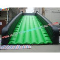 Green Color Wide Long Commercial grade 0.55mm PVC tarpaulin Inflatable Slide for rent