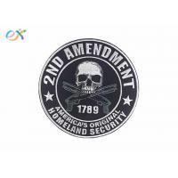 Quality Polyester Background Material Motorcycle Leather Vest Patches Skull Shape for sale