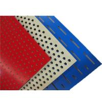 China Melamine Surface Perforated Wood Acoustic Panels Polyester Fiber Hotel Acoustic Board on sale