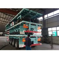 Quality 3 Axle Flatbed Semi Trailer 40ft Double Tires / Single Tires Container Trailer for sale