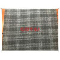 Quality Black and Gray One side Thin Melton 7cm Tartan Wool Fabric , Width 150cm for sale