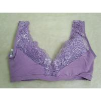 Buy cheap Purple Lace Sleep 44E Breathable Eco-Friendly Fashion Seamless OEM Underwire Nursing Bra product