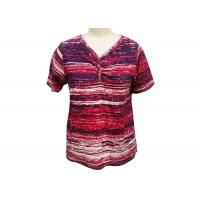 Buy Irregularly Shape Ladies Striped T Shirt , Women'S Collared T Shirts Quick Dry at wholesale prices