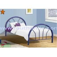 Quality Fun Modern metal frame bed, attractive design with color customized for sale