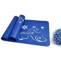 Quality 10mm Personalized Colorful ECO Yoga Mat Soft Blue Square for Bikram for sale