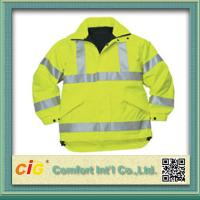 Quality Roadway Winter Reflective Safety Coat for Personal Security Waterproof and Windproof for sale