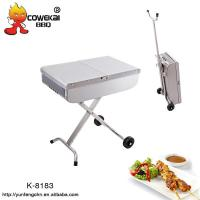 Quality Portable outdoor trolley charcoal bbq for sale