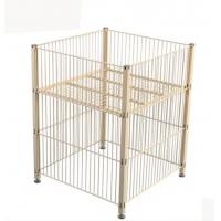 Quality Stable Foldable Pallet Container Metal Storage Cage Collapsible Wire Mesh Container for sale