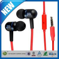 China Red In-Ear 3.5mm Headphone or Earphone Noise-Isolation Stereo Earbuds With Microphone on sale