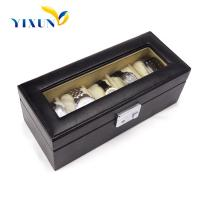 Buy cheap leather pu pVC watch box with 6 slot from wholesalers