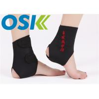 Quality Adjustable Self Heating Tourmaline Elastic Ankle Support With Compression Strap for sale