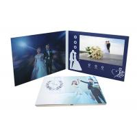 Quality 800*480P Screen LCD Invitation Card Digital Video Folder Book Glossy Finished for sale