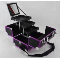 Quality Purple Aluminum Anodize Cosmetic Case Protable Make Up Box for sale